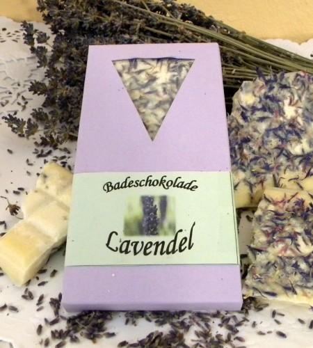Badeschokolade Lavendel
